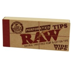 Raw Wide Tips Perforated